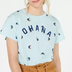 New Disney Stitch Ohana Blue Short Sleeve T-Shirt